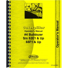 Caterpillar 4A Bulldozer Attachment Operators Manual (SN# 52E1 and up, 65F1 and Up)