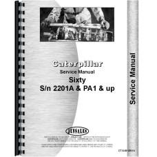 Caterpillar 60 Crawler Service Manual (SN# 2201A, PA1 and Up)
