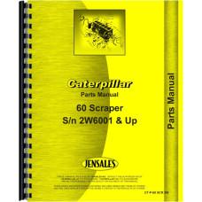 Caterpillar 60 Scraper Parts Manual (SN# 2W5001)