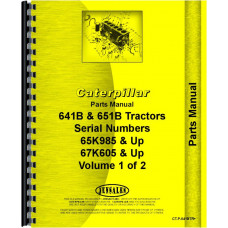 Caterpillar 651B Tractor Scraper Parts Manual (SN# 65K985 & Up, 67K605 & Up)