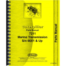 Caterpillar 7211 Marine Transmission Parts Manual (SN# 66X1 and Up)