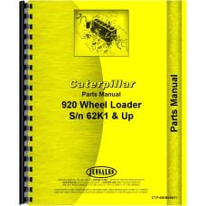 Caterpillar 920 Wheel Loader Parts Manual (SN# 62K1 to 62K4605)