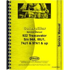 Caterpillar 922B Wheel Loader Service Manual (SN# 74J1 and Up, 88J, 94A1, 97A1 and Up)