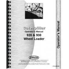 Caterpillar 920 Wheel Loader Operators Manual (SN# 41J and Up, 62K1 and Up, 75J1 and Up)