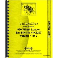 Caterpillar 930 Wheel Loader Parts Manual (SN# 41K-41K3207)