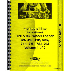 Caterpillar 920 Wheel Loader Service Manual (SN# 41J and Up, 62K1 and Up, 75J1 and Up)