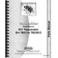 Caterpillar 931 Traxcavator Parts Manual (SN# 78U1-78U3913)