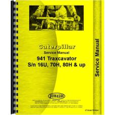 Caterpillar 941 Traxcavator Service Manual (SN# 16U, SN# 70H, SN# 80H)