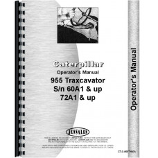 Caterpillar 955 Traxcavator Operators Manual (SN# 60A1 and Up, 72A1 and Up)