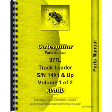 Caterpillar 977L Traxcavator Parts Manual (Sn 14X1 & up) (includes both volumes)