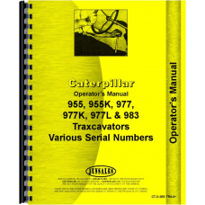 Caterpillar 977L Traxcavator Operators Manual (SN# 11K1 and Up, 70J1 and Up)