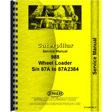 Caterpillar 988 Wheel Loader Service Manual (SN# 87A1-2384)