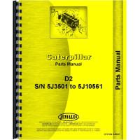 Caterpillar D2 Crawler Parts Manual (SN# 5J3501-5J10561) (5J3501-5J10561)