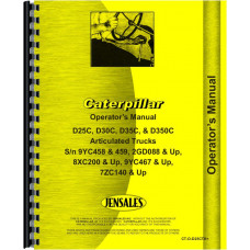Caterpillar D350C Articulated Dump Truck Operators Manual (SN# 8XC200 and up)