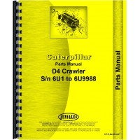 Caterpillar D4 Crawler Parts Manual (SN# 6U1-6U9988) (6U1-6U9988)