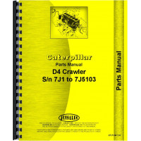 Caterpillar D4 Crawler Parts Manual (SN# 7J1-7J5103)