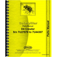 Caterpillar D4 Crawler Parts Manual (SN# 7U27570-7U44307) (Late)