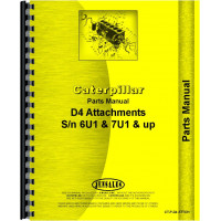 Caterpillar D4 Crawler Parts Manual (SN# 6U1 and Up, 7U1 and Up) (6U1+ and 7U1+)