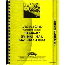 Caterpillar D4C Crawler Operators Manual (SN# 39A1 and Up, 40A1 and Up, 54A1 and Up, 69A1 and Up)