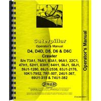 Caterpillar D4D Crawler Operators Manual (SN# 7R1, 22C1, 47H1, 47J1, 52H1, 58J1, 59J1, 69J1, 74U1, 83H1, 83J1, 84H1 and Up)