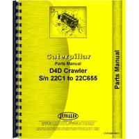 Caterpillar D4D Crawler Parts Manual (SN# 22C1-22C655)