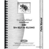 Caterpillar D4D Crawler Parts Manual (SN# 82J1-82J3443) (82J1-82J3443)