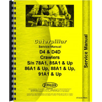 Caterpillar D4 Crawler Service Manual (SN# 78A1 and Up) (78A1+)