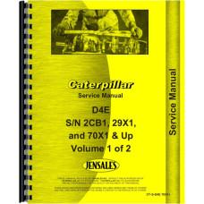 Caterpillar D4E Crawler Service Manual (SN# 29X and Up)