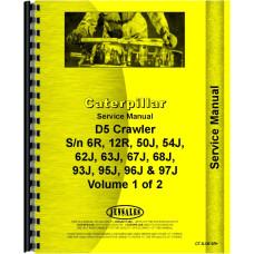 Caterpillar D5 Crawler Service Manual (SN# 12R1 and Up, SN# 50J1 and Up, SN# 54J1 and Up, SN# 62J1 and Up, SN# 63J1 and Up, SN# 67J1 and Up, SN# 68J1 and Up, SN# 6R1 and Up, SN# 93J1 and Up, SN# 94J1 and Up, SN# 95J1 and Up, SN# 96J1 and Up, SN# 97J1