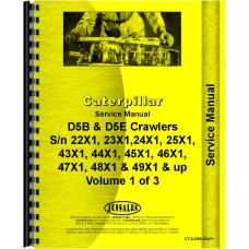 Caterpillar D5B Crawler Service Manual (SN# 8MB1 and Up, 22X1 and UP, 23X1 and UP, 24X1 and UP, 25X1 and UP, 43X1 and UP, 44X1 and UP, 45X1 and UP, 46X1 and UP, 47X1 and UP, 48X1 and UP, 49X1 and UP)