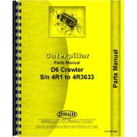 Caterpillar D6 Crawler Parts Manual (SN# 4R1-4R3633) (4R1-4R3633)