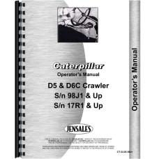 Caterpillar D6C Crawler Operators Manual (SN# 17R1 and Up)