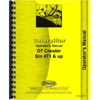 Caterpillar D7 Crawler Operators Manual (SN# 4T1 and Up) (4T1+)