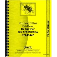 Caterpillar D7 Crawler Parts Manual (SN# 17A11879 and 17A19442 Up) (17A11879 and 17A19442+)