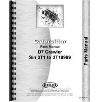 Caterpillar D7 Crawler Parts Manual (SN# 3T1-3T19999) (3T1-3T19999)