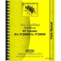 Caterpillar D7 Crawler Parts Manual (SN# 3T2000-3T28058) (3T2000-3T28058)