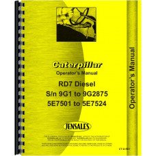 Caterpillar D7E Crawler Parts Manual (SN# 47A3396-47A5841)