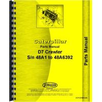 Caterpillar D7 Crawler Parts Manual (SN# 48A1-48A6392) (w/ Power Shift)