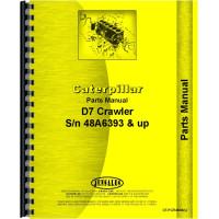 Caterpillar D7 Crawler Parts Manual (SN# 48A6393 and Up) (48A6393+)