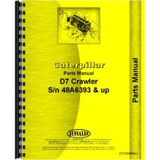 Caterpillar D7E Crawler Parts Manual (SN# 48A6393 and Up) (48A6393+)