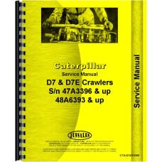 Caterpillar D7E Crawler Service Manual (SN# 47A3396 and Up, SN# 48A6393 and Up) (47A3396+ and 48A6393+)