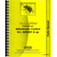 Caterpillar D4 Crawler #44 Hydraulic Control Attachment Parts Manual (SN# 2T1-2T9999, 4G1-4G9999, 5T1-5T7411, 6U1 and Up, 7U1 and Up, 7J1-7J9999, 8U1 and Up, 6W5001 and Up)