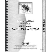 Caterpillar D8 Crawler Parts Manual (SN# 2U15001-2U23537) (2U15001-2U23537)