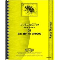 Caterpillar D8 Crawler Parts Manual (SN# 8R1-8R9999) (8R1-8R9999)