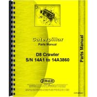 Caterpillar D8 Crawler Parts Manual (SN# 14A1-14A3860) (14A1-14A3860)