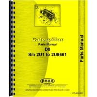 Caterpillar D8 Crawler Parts Manual (SN# 2U1-2U9661)