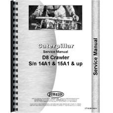 Caterpillar D8 Crawler Service Manual (SN# 14A1 and Up, 15A1 and Up) (14A1+ and 15A1+)