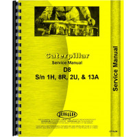 Caterpillar D8 Crawler Service Manual (SN# 1H1 and up, 2U1 and up, 8R1 and up, 13A1 and up) (Chassis)