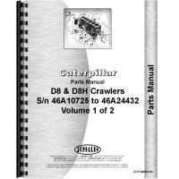 Caterpillar D8H Crawler Parts Manual (SN# 46A10725-46A24432)
