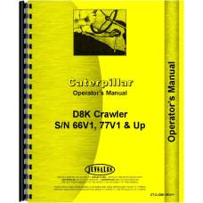 Caterpillar D8K Crawler Operators Manual (SN# 66V1 and UP, 77V1 and Up)